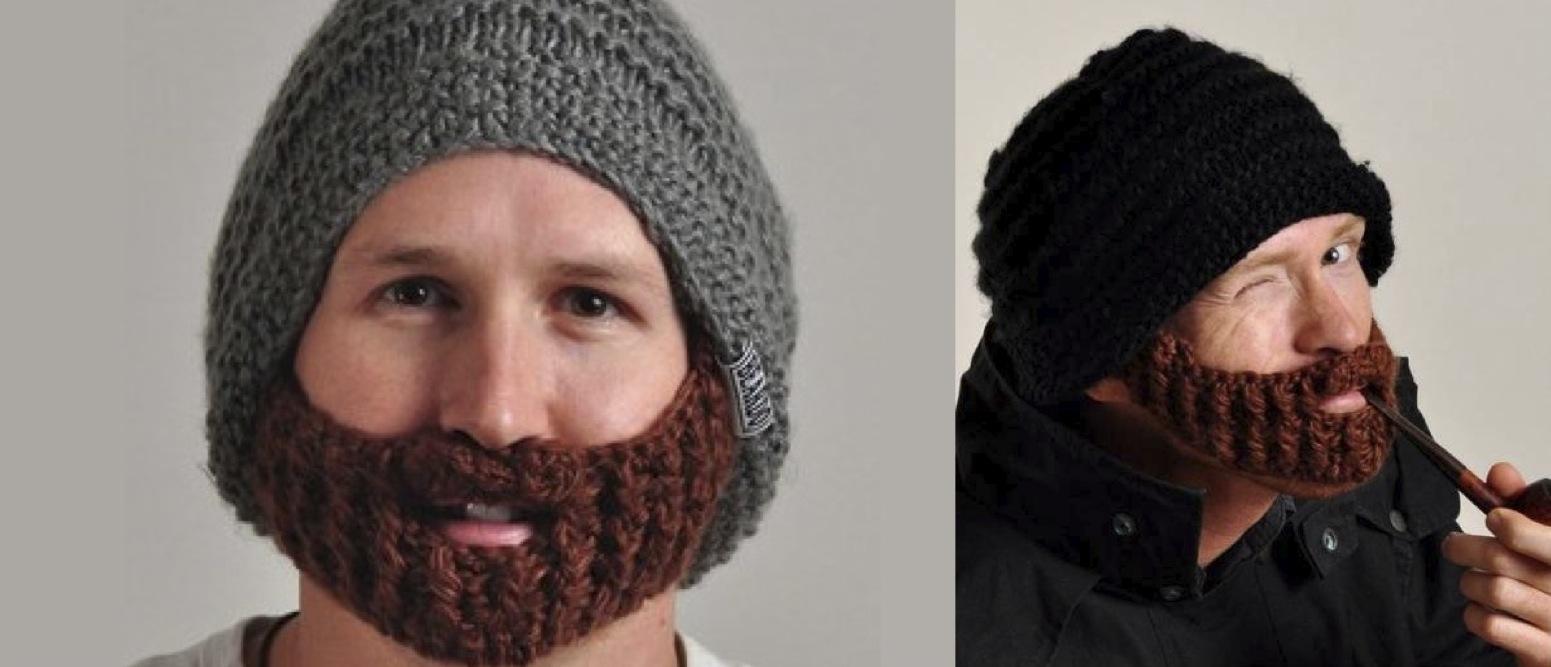 tricoter un bonnet avec une barbe