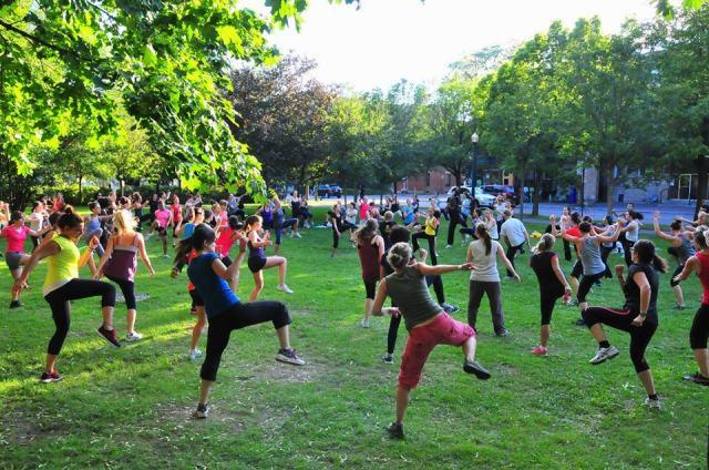 Gym suédoise Canada au Parc Lafontaine à Montréal