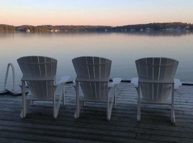 3 chaises Adirondack